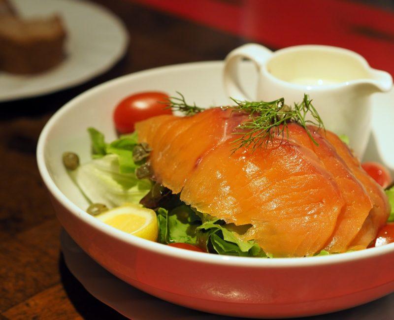 Lachsstreifensalat